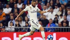 Karim Benzema anotó el primer gol en el triunfo del Real Madrid