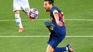 Leo Messi ha sido un seguro de vida para el Barça en sus estrenos en la Champions