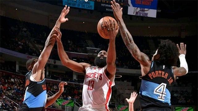 Los Rockets superaron a los Cavaliers con un gran Harden