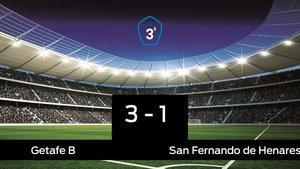 Los tres puntos se quedaron en casa: Getafe B 3-1 San Fernando de Henares