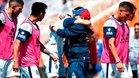 Maradona celebra con sus jugadores la primera victoria de la temporada