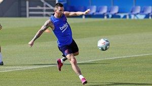 Messi se entrena pensando en el Betis