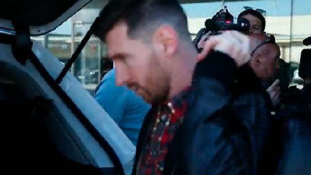 Messi pone rumbo a Madrid con Argentina