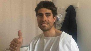Mikel Landa fue ingresado en un hospital