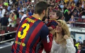 Milan Piqué cree que su padre también jugaría bien de portero. Y Shakira, también