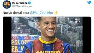 Philippe Coutinho volverá a llevar el dorsal 14 en el FC Barcelona