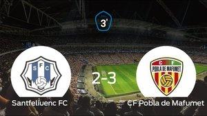 El CF Pobla de Mafumet ganó a domicilio al Santfeliuenc