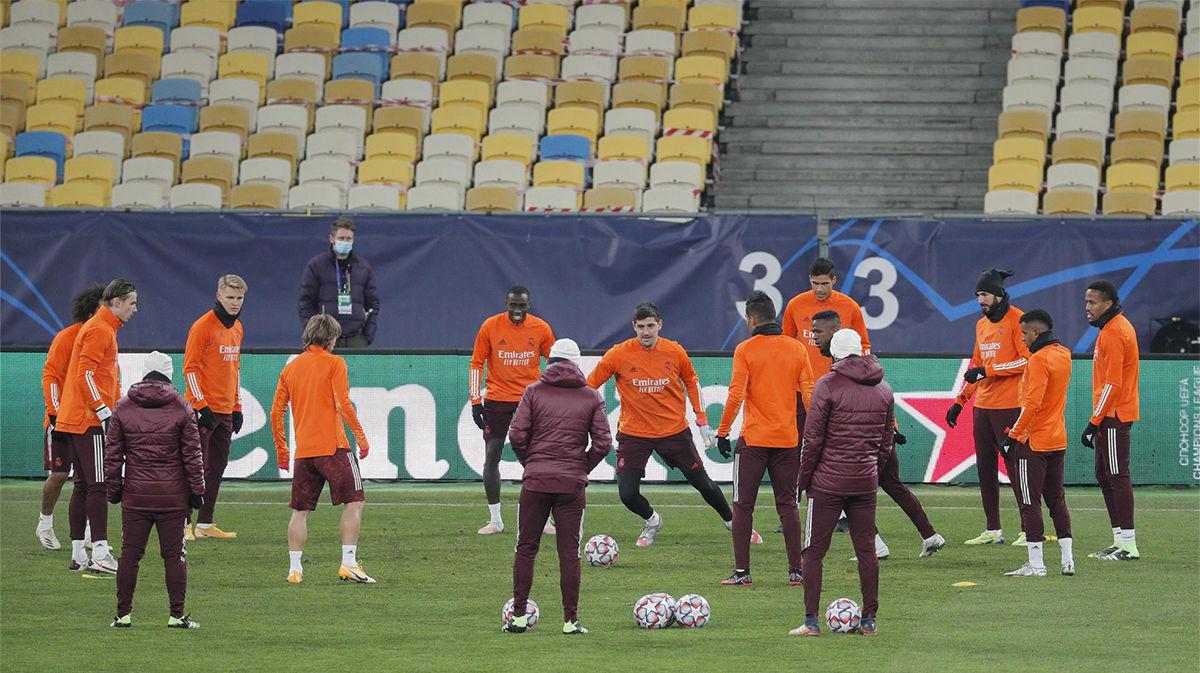 El Real Madrid entrenó en Kiev antes del partido de Champions