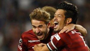 Samper celebra el gol que ha llevado al Vissel Kobe a las semifinales