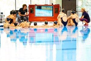 La seleccionadora española de natación artística, la japonesa Mayuko Fujiki, durante la entrevista que mantuvo con Efe en el Centro de Alto Rendimiento es vísperas de su entreno mundialista.