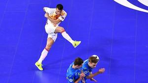 Sergio Lozano se lesionó ante Ucrania en el Europeo