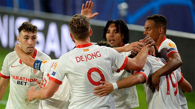 El Sevilla se lleva un partido con sabor a goleada