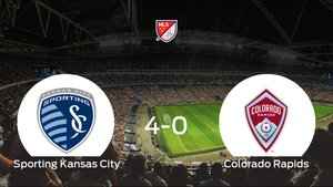 Triunfo para el Sporting Kansas City tras golear 4-0 al Colorado Rapids