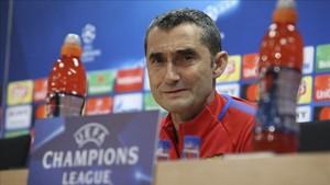 Valverde, en su comparecencia para hablar del Chelsea