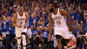 Westbrook y Harden en su etapa en Oklahoma