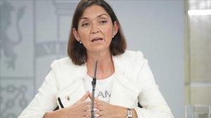 La Ministra de Industria Reyes Maroto en el Consejo de Ministros.