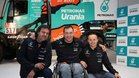 Albert Llovera, con el mecánico Marc Torres y el copiloto Ferran Marco
