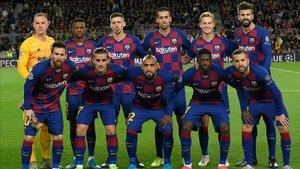 La alineación del Barça ante el Slavia