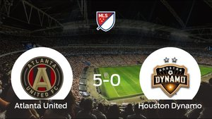 El Atlanta United golea 5-0 en el Mercedes-Benz Stadium al Houston Dynamo