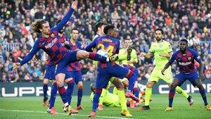 Barça y Getafe se enfrentaron en el Camp Nou