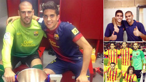 Bartra colgó en Twitter varias fotografías en las que aparece con Valdés