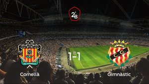 El Cornellày el Gimnàstic Tarragonase reparten los puntos en el Nou Municipal (1-1)