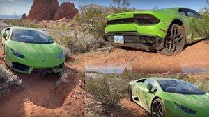 Encuentran un Lamborghini Huracán abandonado en el desierto