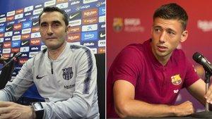 Ernesto Valverde y Clement Lenglet