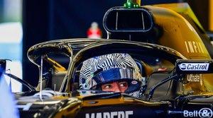 Fernando Alonso, al volante del RS18