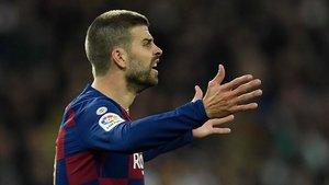 Gerard Piqué se lamentó de la derrota del Barça en el clásico