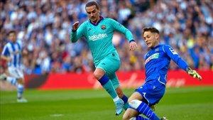 Griezmann evitó males mayores para el Barça