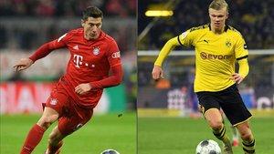 Haaland y Lewandowski serán protagonistas en el Dortmund-Bayern