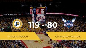 Indiana Pacers gana a Charlotte Hornets (119-80)
