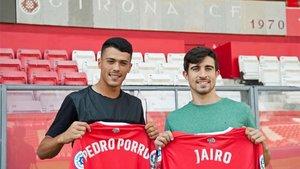 Jairo, junto a Pedro Porro en la que fue su primera presentación