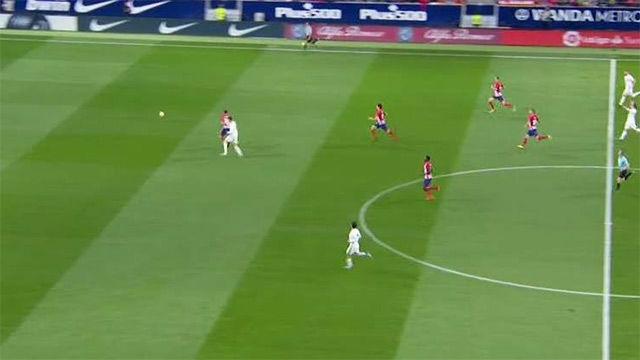 LALIGA | Atlético Madrid - Real Madrid (0-0): La carrera entre Juanfran y Cristiano