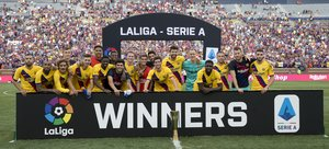 Las mejores imágenes del partido Nápoles, 0 - FC Barcelona, 4