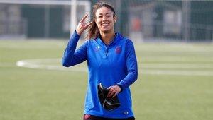 Leila Ouahabi ya vuelve a entrenarse con el grupo