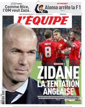 LEquipe coloca a Zidane en el Manchester United
