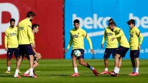 Los rondos han vuelto a los entrenamientos deel Barcelona
