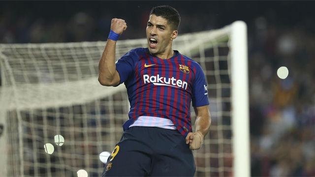 Luis Suárez se reencontró con el gol tras seis jornadas sin ver puerta