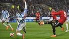 Lukaku adelantó al Manchester United en el minuto tres.