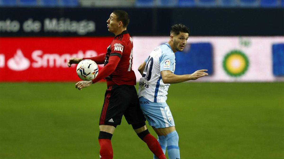 Málaga y Mirandés se reparten los puntos
