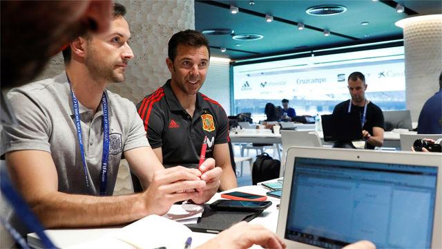 Marchena llega a la concentración de la selección española