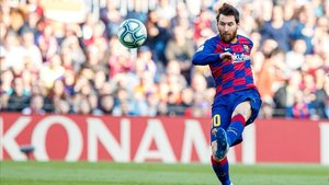 Messi, en el choque ante el Getafe