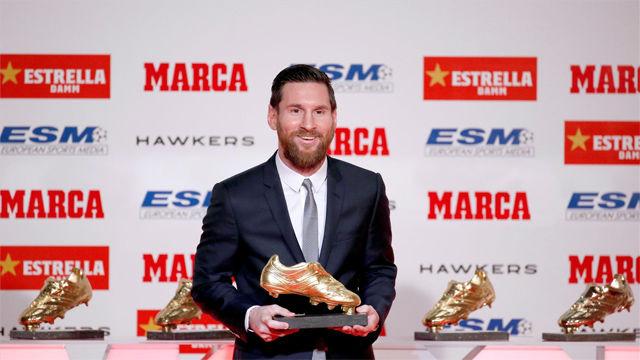 Messi recibió su quinta Bota de Oro: Estoy en el mejor equipo del mundo y eso lo hace todo más fácil