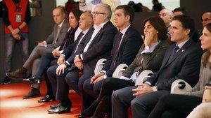Miembros de la Junta durante la presentación de las elecciones
