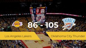 Oklahoma City Thunder gana a Los Angeles Lakers por 86-105