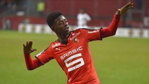Ousama Dembélé jugó en el Rennes