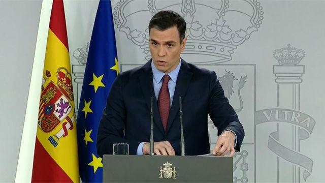 Pedro Sánchez anuncia cuatro bloques de medidas contundentes contra coronavirus