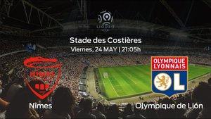 Previa del encuentro: el Olympique Lyonnais viaja al estadio del Nîmes para concluir el campeonato